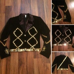 New Listing! Vintage 70s Sequined Velvet Jacket